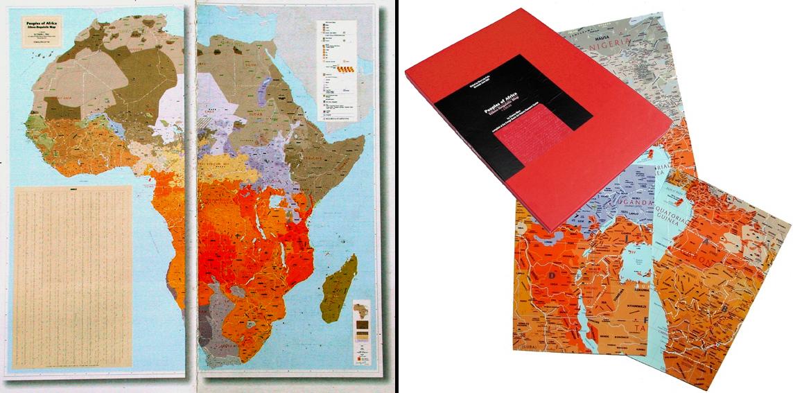 Grande Carte Ethnolinguistique Des Peuples d'Afrique